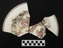 T. Elsmore and Sons, Lily & Vase Pattern Plate. Produced May 14th 1878.