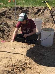 Desiree excavating in her unit.