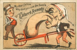 Dr. Sage's Catarrh Remedy ad. Image Source.