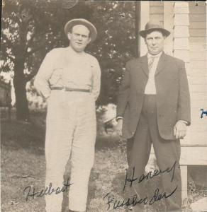 Hubert Fassbender (left) with his brother Henry ca. 1930