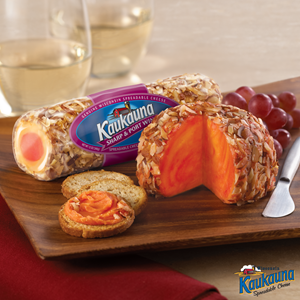 Cheese balls and cheese logs are other delicious Kaukauna products​