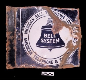 Michigan Bell Telephone Company sign found in the Brody/Emmons Complex.