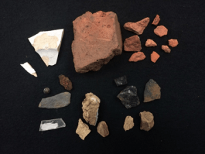 Artifacts from south of Cowles House, Shovel Test Pit G1