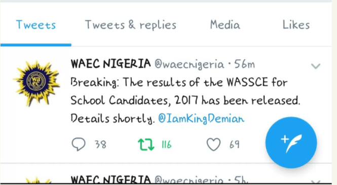 West Africa Examination Council Today Released The Results for 2017 May/June WASSCE for School Candidates