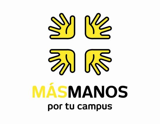 Logo + Manos por tu campus low