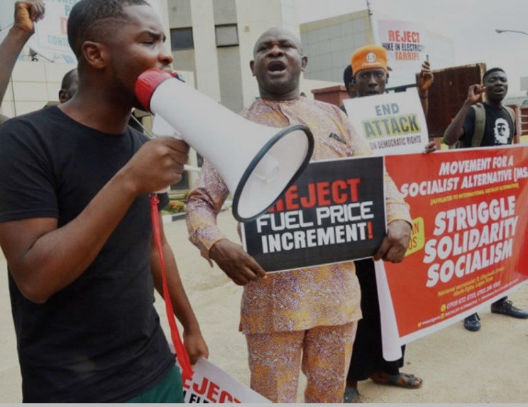 Students, workers protest fuel price hike in Ibadan