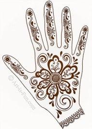 henna hand image