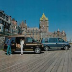 Campwagon par excellence - Advertising leaflet for Chevrolet ASTRO – GMC Safari with Chateau Frontenac Quebec city