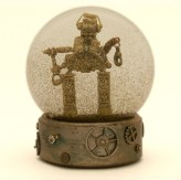ProtoDroid - robot snow globe Camryn Forrest Designs 2013