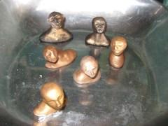 Miniature head sculptures, Camryn Forrest Designs, Denver Colorado