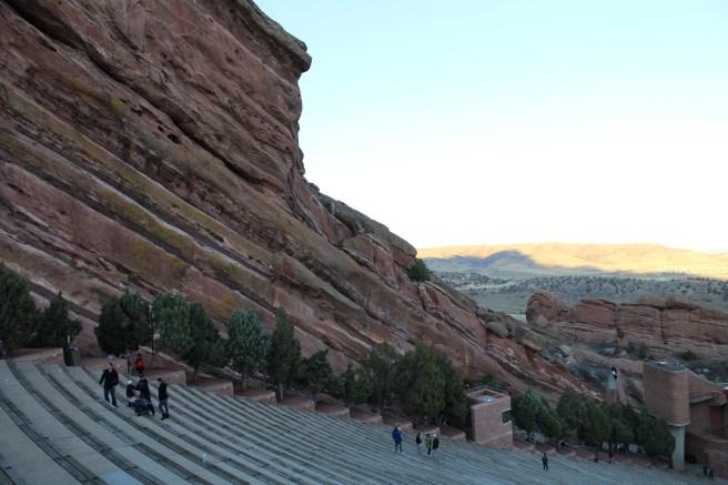 The Red Rocks Amphitheater in Denver, Colorado