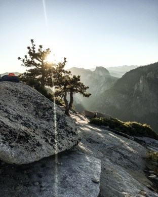 Sunrise over Half Dome from the top of El Capitan