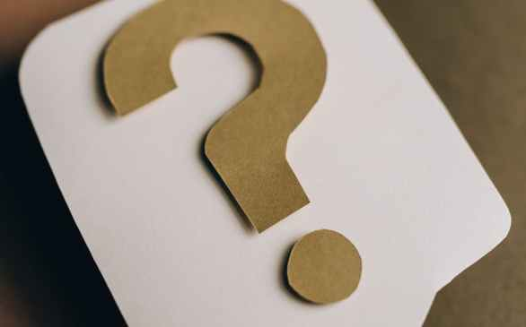 question mark on paper crafts