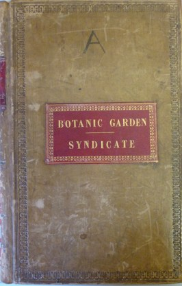 Botanic Garden Syndicate meeting minutes book 1840s and 1850s