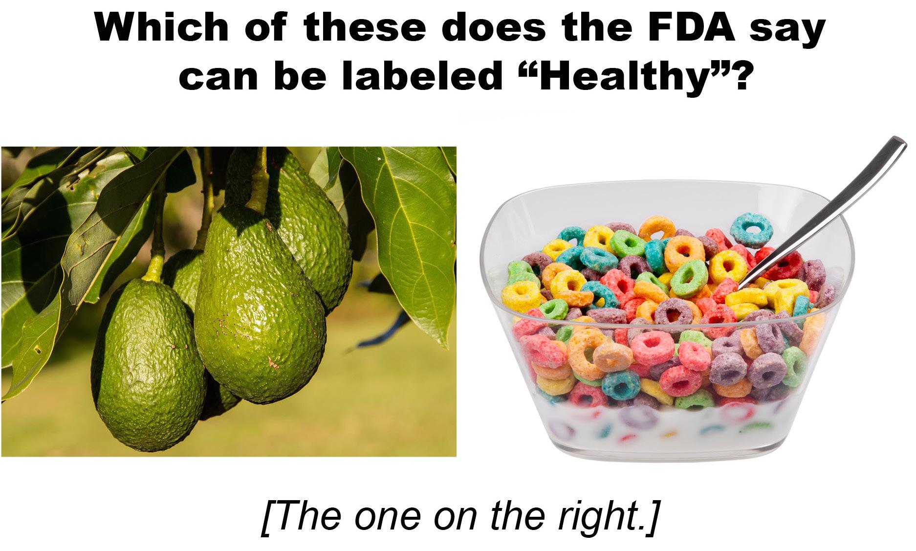 Fda Redefine Healthy Claim On Food Labeling