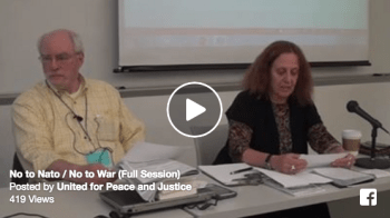 UFPJ No to Nato - No to War Panel at the Left Forum in 2016