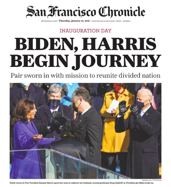 Front page of SF Chronicle