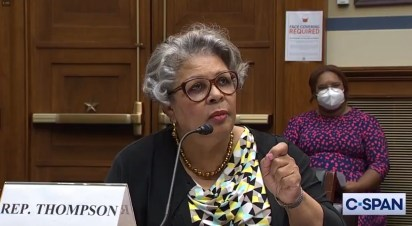 Texas Rep. Senfronia Thompson points while testifying in a U.S. Capitol hearing