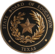 Metal emblem for State Board of Education, with star in middle surrounded by leaves