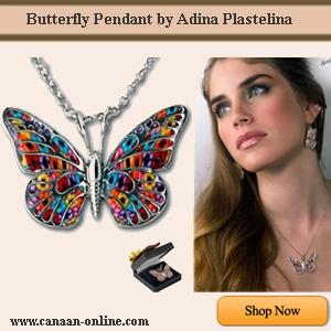 Butterfly Pendant by Adina Plastelina