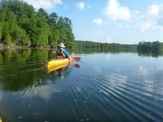 In the kayak at Charleston Lake
