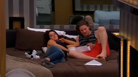 Jillian and Emmett on Big Brother Canada