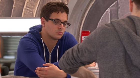 Johnny Colatruglio looks worried on Big Brother Canada