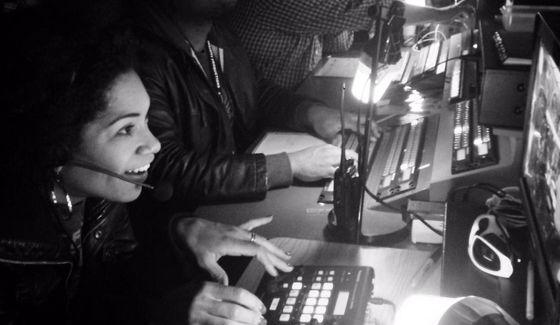Arisa Cox in BBCAN control room - Source: Twitter
