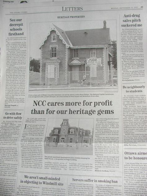 Managed to save two old heritage homes thanks to Kurt Johnson.