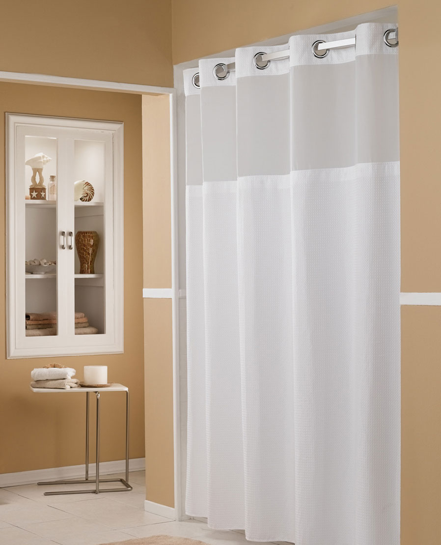 marriott hookless shower curtain
