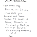 Love Letters 50 Years Canada College