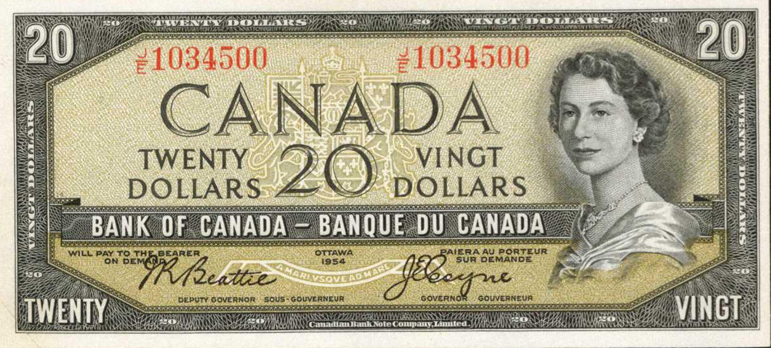 Value Of Devils Face 20 Bill From The Bank Of Canada