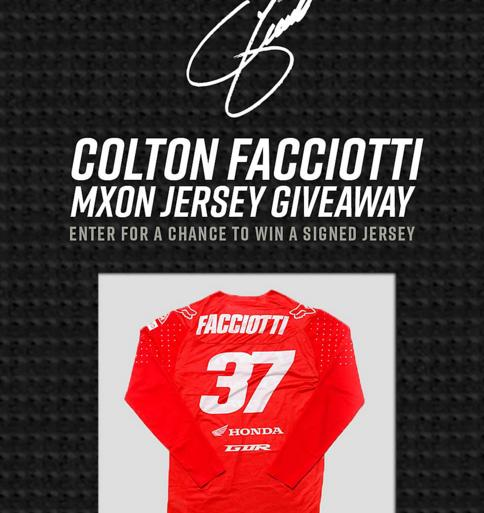Colton Facciotti Autographed Jersey Giveaway – Win An