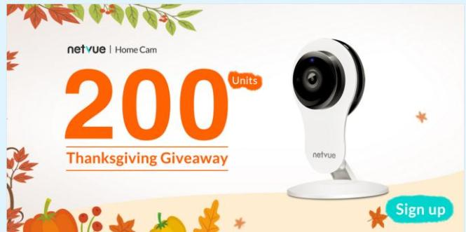 Netvue Happy Thanksgiving Giveaway
