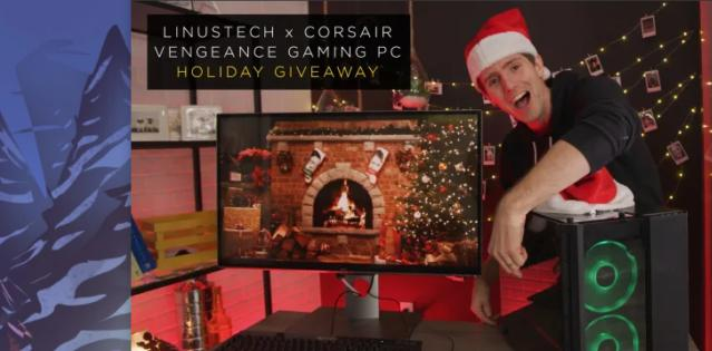 Linus X Corsair Vengeance Gaming PC Holiday Giveaway