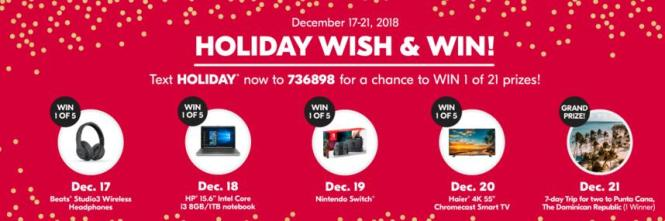 Shoppers Drug Mart Holiday Wish & Win Contest
