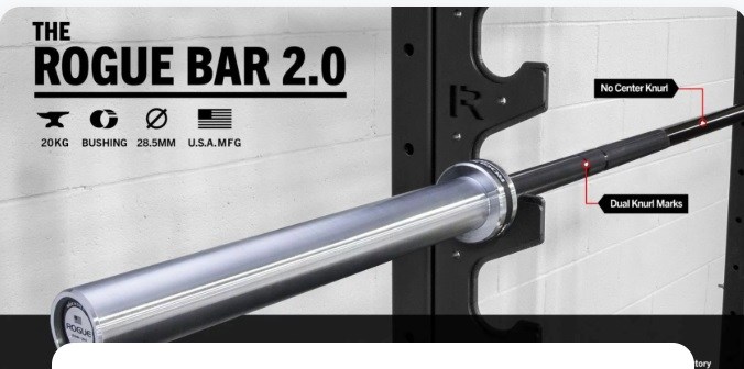 Garage gym athlete barbell giveaway win the rogue bar 2.0 canada