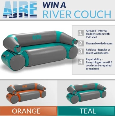 Paddling Com Aire March 2019 Sweepstakes - Win AIRE River Couch