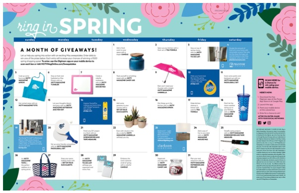 HGTV Magazine Ring In Spring Sweepstakes - Win A $500 Check