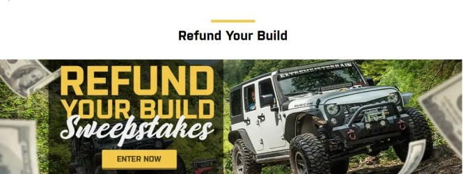 Extremeterrain.com Refund Your Build Sweepstakes - Stand To Win $1,500 In Credit