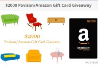 Povison Or Amazon Gift Card Giveaway - Win Gift Card.