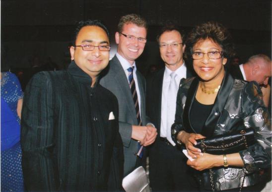 Husain with U of Alberta President Indira Samarasekera.