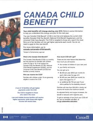 Hồi tháng 6, khoảng 3,9 triệu hộ gia đình Canada đã nhận được thư này giải thích những thay đổi về hệ thống phúc lợi trẻ em. (Ảnh: CBC News)
