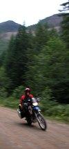 'Arris rides around the BC wilderness.