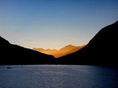 Sunset in Bella Coola.