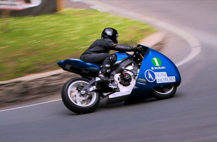 Electric motorcycle racing film released today