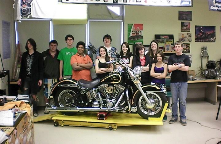 Moncton high school has a chopper class