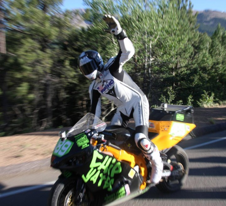 Chip Yates, after his 2011 Pikes Peak race.