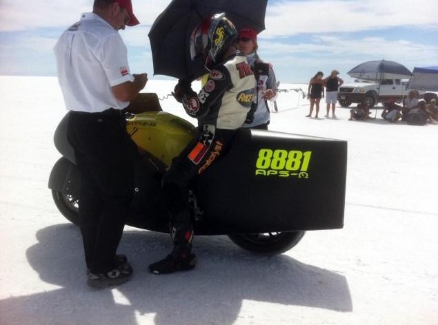 Battery bike hits 200mph