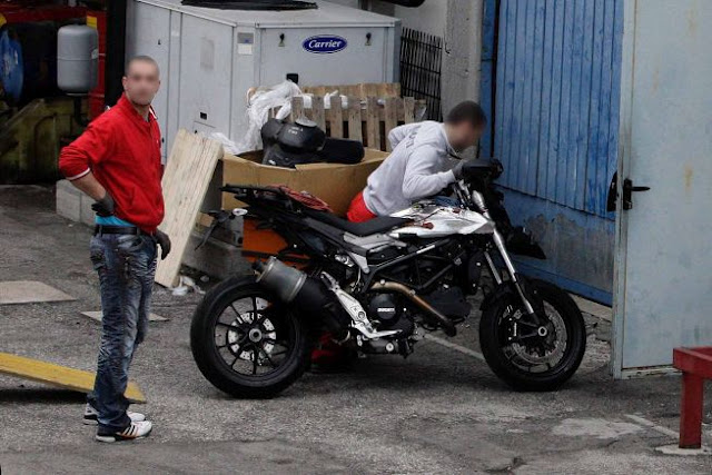 Water-cooled Hypermotard, Suzuki's 2014 MotoGP entry spotted